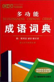 唐文多功能成语词典 唐文辞书编委会编 湖南教育出版社