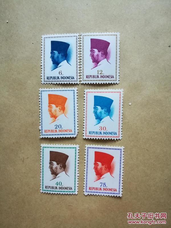 外國郵票 印度尼西亞郵票 6枚(貨號:乙32-3)