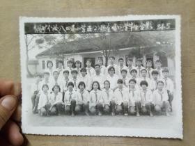 钢矿分校八四届小学生五(2)班全体同学毕业合影