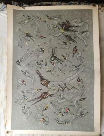 法国版画,带钢印,签名,懂画者得之,版画专用纸