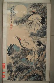 沈锡侯   早年毕业于   南京美专   益阳    国画之三   (高95.5cm宽48.7cm)