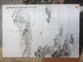 鼓浪屿观海图《鹭海朝晖》庚辰年戴金宝写作---原画