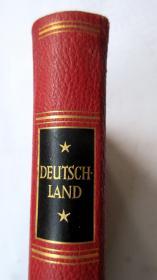 名家(EHMCKE)设计皮装书封/烫金书名/书顶刷金/德国著名铜版印刷著名摄影家RENGER-PATZSCH等摄影《德国的自然风光与建筑》255幅照片 ORBIS TERARUM DEUTSCHLAND. LANDSCHAFT - BAUKUNST