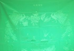 老 被面 上海第八丝织厂 195cm x 135cm 没用过 放久了有斑