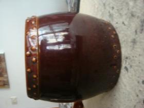 酱釉鼓型罐