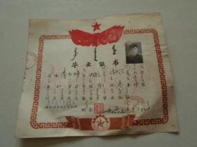 毕业证书【1963年】