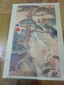 2开年画:青松双鸟图