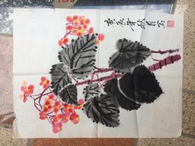 《蝴蝶兰花卉图》庚辰年秋月写作---原画