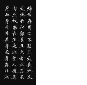 张志和楷书道德经