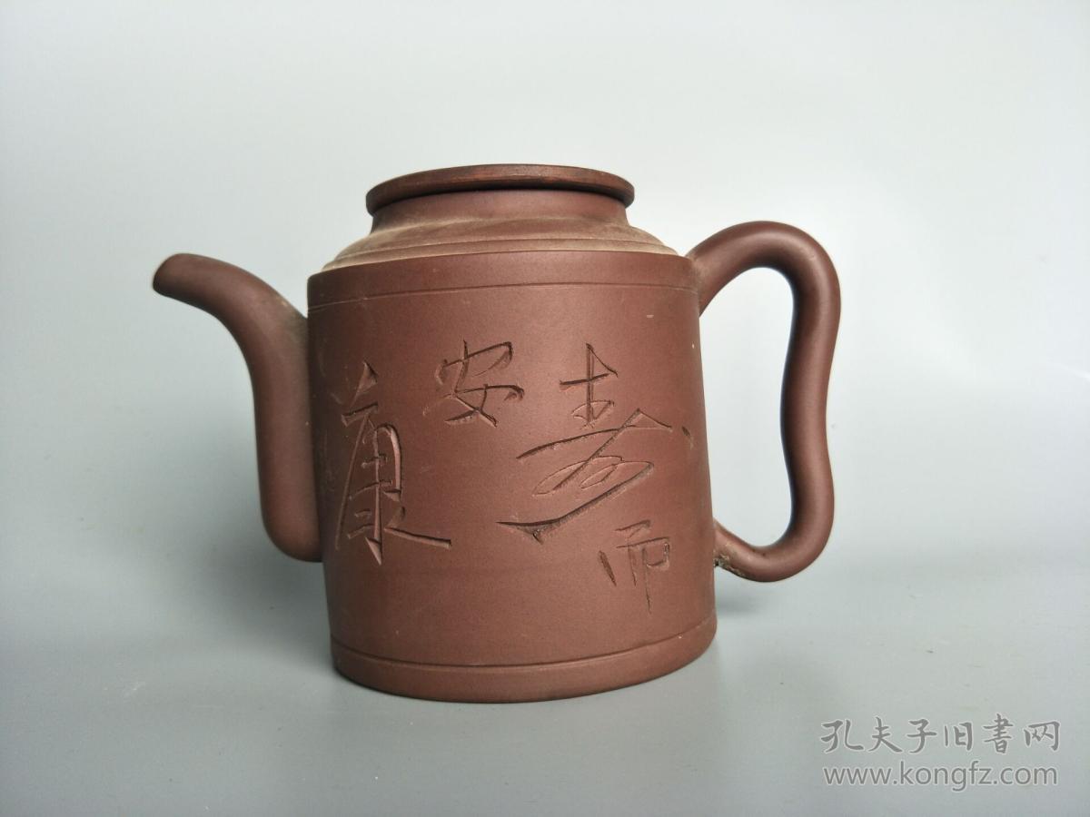 晚清民国老紫砂壶-宜兴紫砂壶纯手工茶壶-老古董老物件旧货收藏