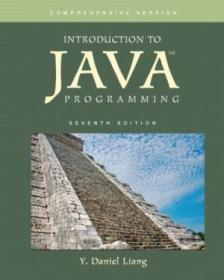 Introduction To Java Programming  Comprehensive Version (7th Edition)