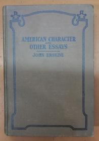 AMERICAN CHARACTER OTHER ESSAYS