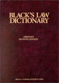 Blacks Law Dictionary  7th Edition