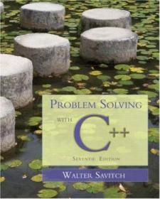 Problem Solving With C++  7th Edition
