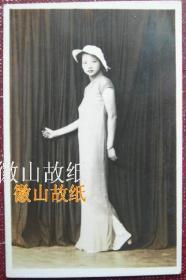 民国老照片:民国旗袍美女,服装帽饰,别样滴美