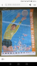 一开宣传画普及与提高相接合努力发展体育事业(上诲市第六届运动会1978年7一10)