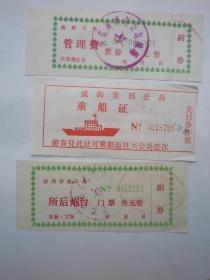 威海:刘公岛 参观纪念 门券3张