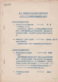 各省、市、自治区哲学社会科学研究所研究规划(1963-1972)中有关我局业务方面的一些项目