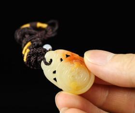 国石精品挂件 寿山芙蓉石铜钱手工吊坠 收藏品工艺品礼品