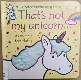 英文原版尾单低幼触摸书 That's Not My Unicorn... (usborne touchy-feely books)触摸纸板书