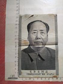 毛泽东同志丝质像   9.5/14.6公分