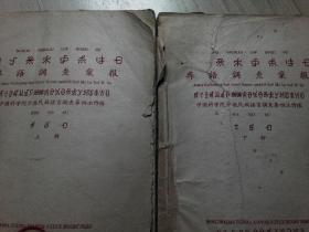 语言研究经典:1956年油印彝语调查汇报(3大册)
