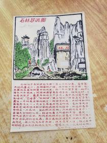 石林导游图(塑料票)(尺幅大)(17.9cm*11.8cm)(右下角有一九八六年字样,要放大镜看)