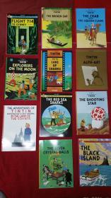 丁丁历险记英文版   The Adventures of Tintin    11册 现货