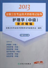 2013-护理学(中级)要点精编-全国卫生专业技术资格考试指导-附赠考试大纲