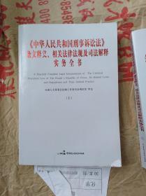 中华人民共和国刑事诉讼法条文释义相关法律法规及司法解释实务全书(全三册)