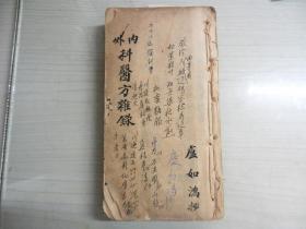 内外科医方杂录    手抄本