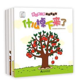 婴儿第一套视觉翻翻书(全4册)幼儿图书 早教书 儿童书籍 袋鼠妈妈童书