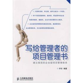 写给管理者的项目管理书:建立高效的企业级项目管理体系
