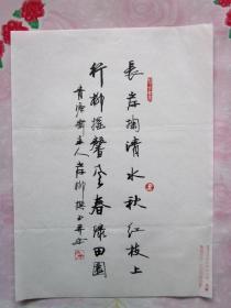 岸柳·本名郝永安,号青源斋主·信硬笔书法(1)