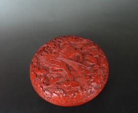 精品文玩.清代狮子绣球漆器盒