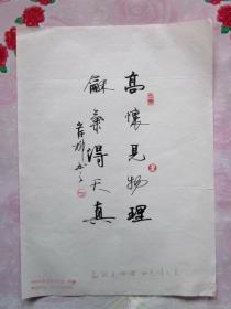 岸柳·本名郝永安,号青源斋主·信硬笔书法(2)
