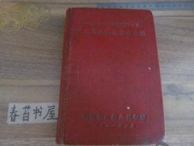 51年代笔记本----中国人民解放军川南军区炮兵团第二届英雄大会纪念册