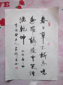 岸柳·本名郝永安,号青源斋主·信硬笔书法(9)