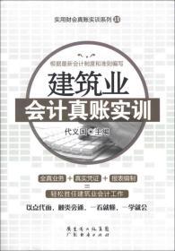 建筑业会计真账实训/实用财会真账实训系列