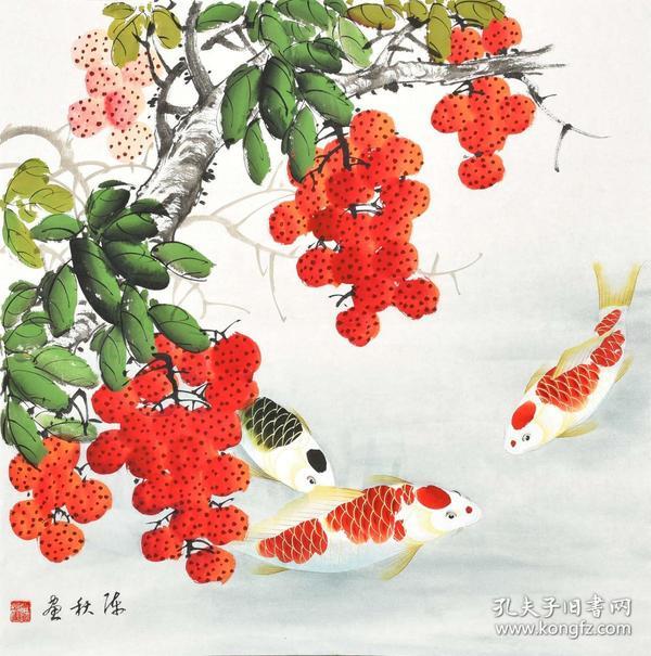 當代著名畫家花鳥畫gh02158