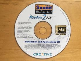 Installation and Applications  创新Audigy2NX USB Sound Blaster外置声卡  光盘