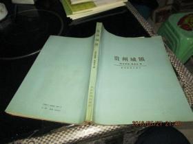 贵州城镇   贵州科技出版社    16开  34-2号