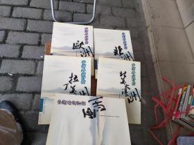 中国外交官在亚洲、在非洲、在欧洲、在拉丁美洲、在北美大洋洲  5册合售 库存书