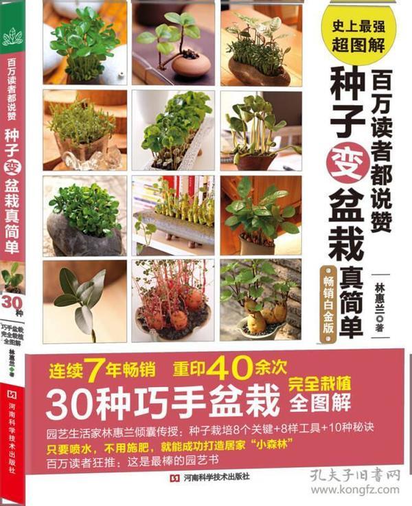 正版包邮j/百万读者都说赞 种子变盆栽真简单/9787534962615/1673