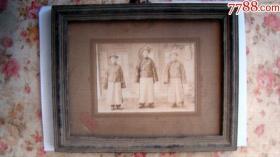 清朝老照片(照片宽13.5厘米,高9.5厘米)艳芳