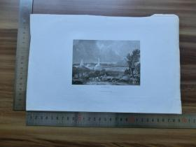 【现货 包邮】19世纪 铜/钢版画 单幅 WATERLOO(货号 200701)