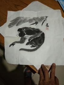 李燕 木版水印画 有水渍 见图
