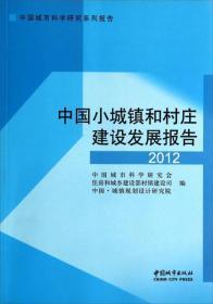 中国小城镇和村庄建设发展报告2012