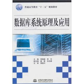 数据库系统原理及应用 李晓峰李东 中国水利水电出版社 9787508482941