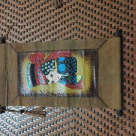 真皮写真蒙古图像(长63厘米宽35厘米 已申请专利)极品收藏